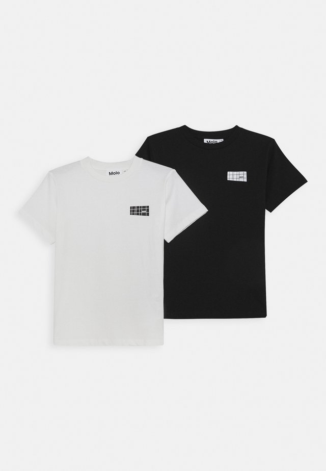 RASMUS 2 PACK - T-shirts basic - white star