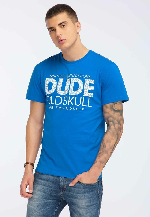 OLDSKULL T-SHIRT PRINT - Print T-shirt - blue