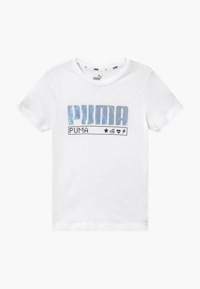 ALPHA TEE - T-shirts med print - white
