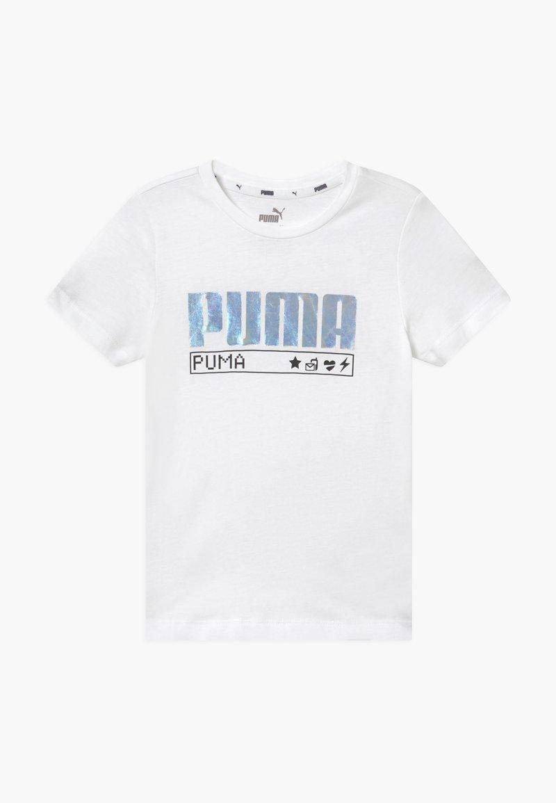 Puma - ALPHA TEE - Triko spotiskem - white