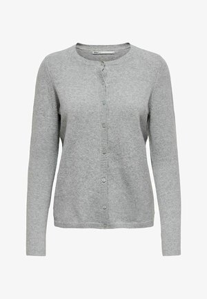 ONLRICA LIFE BUTTON - Cardigan - light grey melange