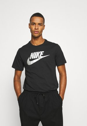 TEE FOIL FUTURA - T-shirt con stampa - black