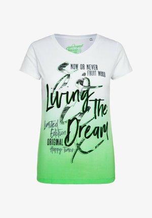 Print T-shirt - lemon drop