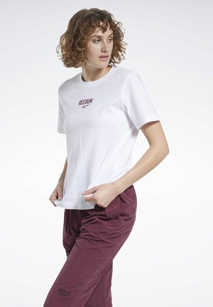 CLASSICS SIDE LOGO VINTAGE T-SHIRT - Print T-shirt - white