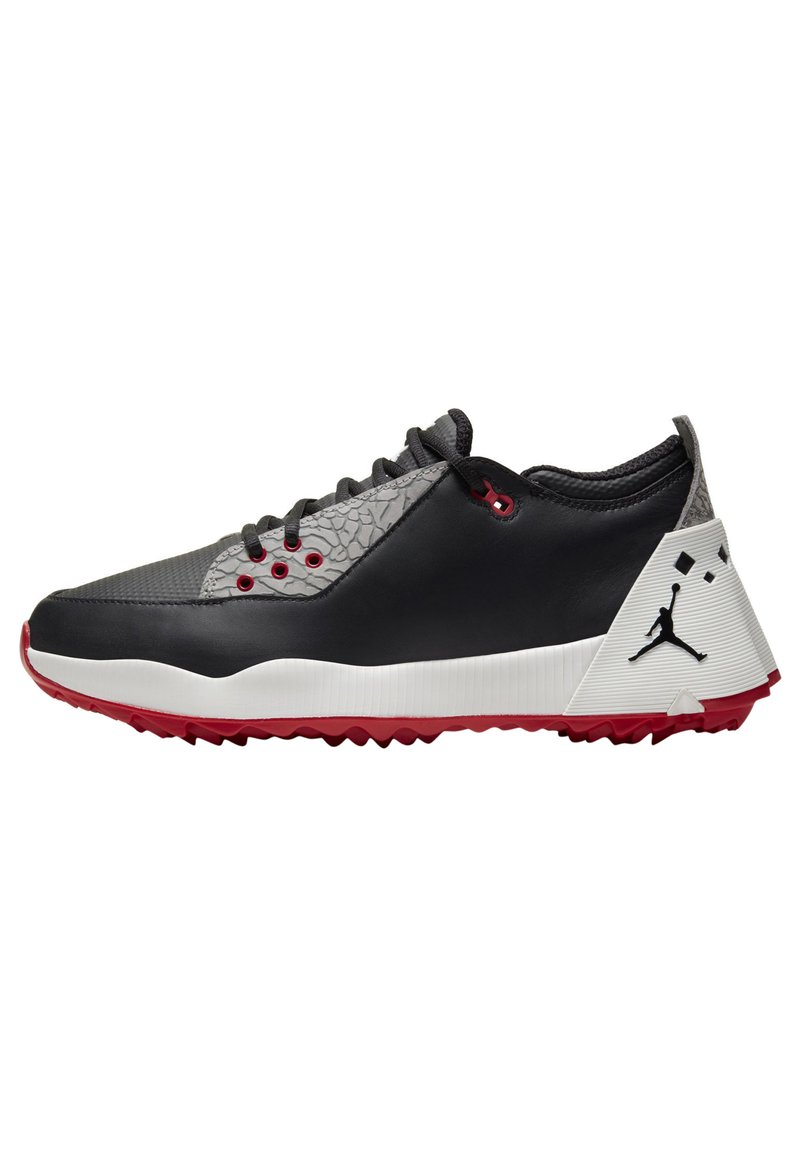 Nike Golf - JORDAN ADG 2 - Golf shoes - black/summit white/university red/black