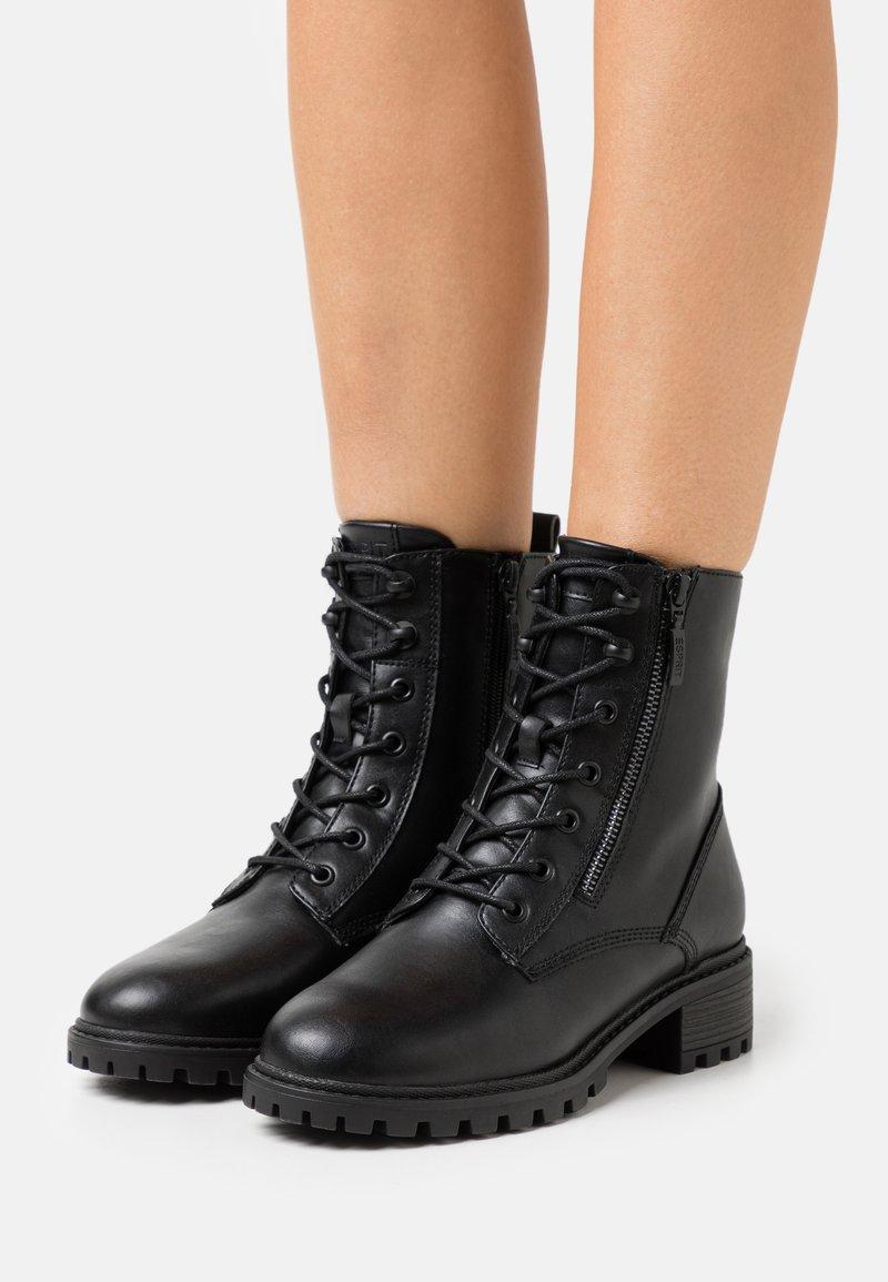 Esprit - KONSTANZ - Lace-up ankle boots - black
