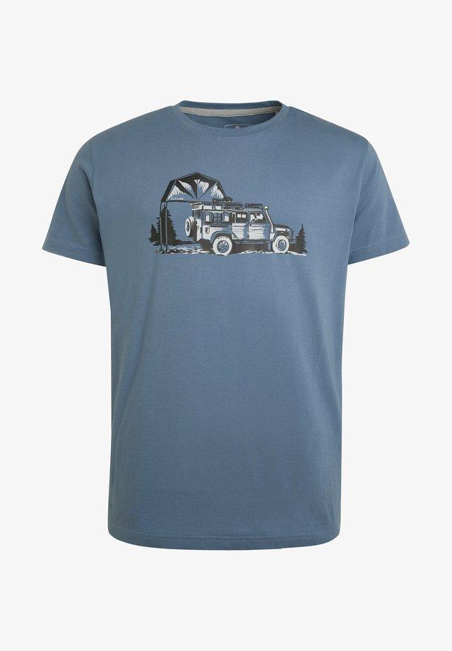 BESIDE MAINSTREAM - Print T-shirt - ashblue