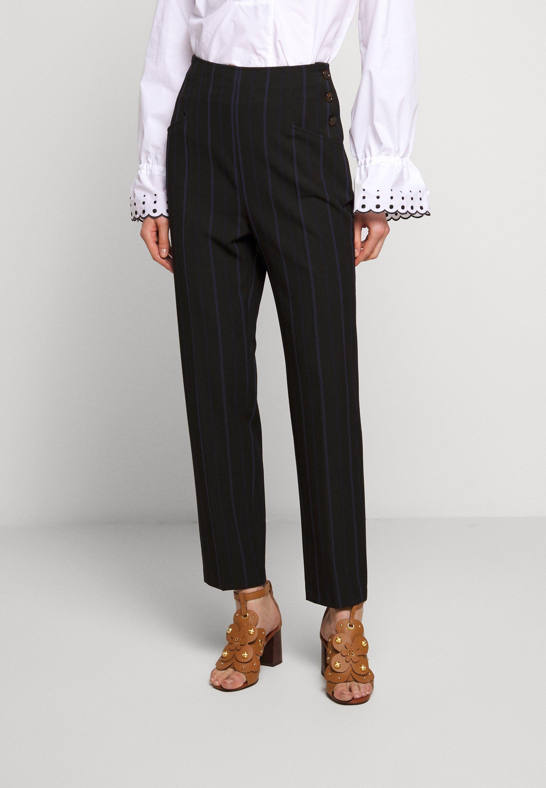 See by Chloé Pantalon classique - black - Pantalons & Leggings Femme W6UGu
