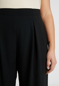 Dorothy Perkins Curve - BUTTON PALAZZO TROUSER - Bukser - black - 4