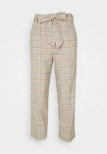 PANTS STRAIGHT PLEATED - Trousers - beige