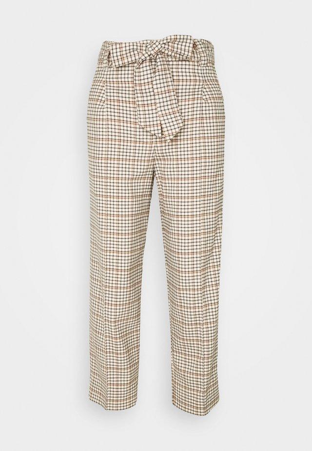 PANTS STRAIGHT PLEATED - Kalhoty - beige