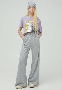 PULL&BEAR - Print T-shirt - mauve - 1