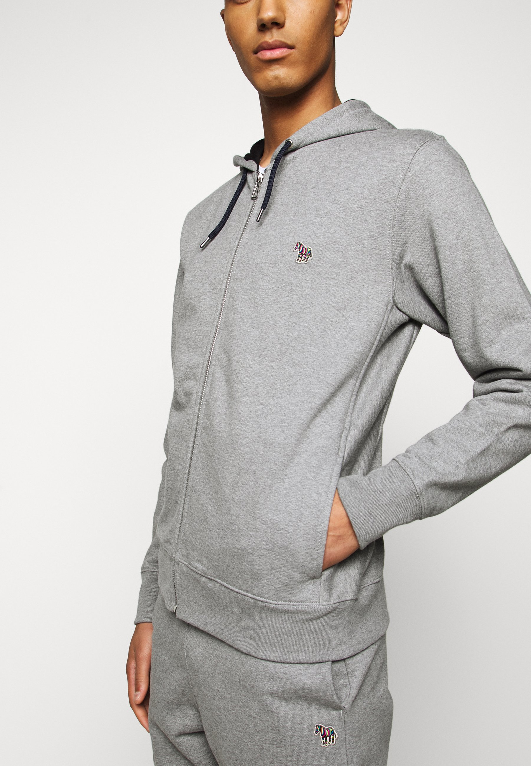 MENS ZIP HOODY Sweatjakke Træningstrøjer mottled grey