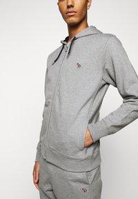 PS Paul Smith - MENS ZIP HOODY - Zip-up hoodie - mottled grey - 4