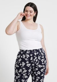 New Look Curves - NEW LONGLINE 2 PACK - Top - black/white - 5
