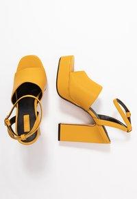 Topshop - RAFA CHUNKY PLATFORM - High heeled sandals - mustard - 3