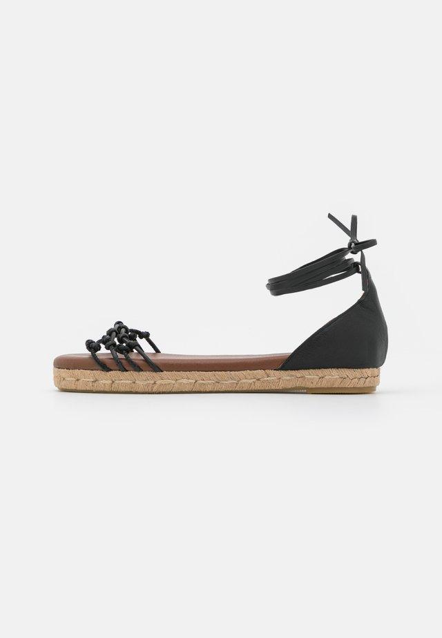WANDERER - Sandaalit nilkkaremmillä - black