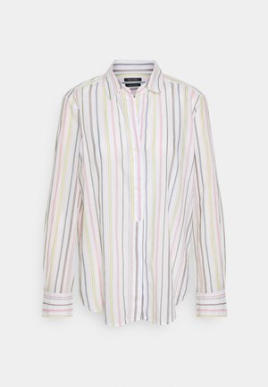 BLOUSE LONG SLEEVED BUTTON PLACKET STRIPED - Button-down blouse - multi