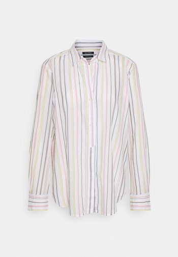BLOUSE LONG SLEEVED BUTTON PLACKET STRIPED