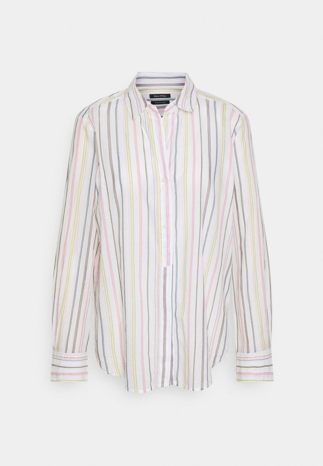 BLOUSE LONG SLEEVED BUTTON PLACKET STRIPED - Skjorta - multi