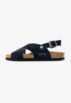 TWEED - Sandals - blue