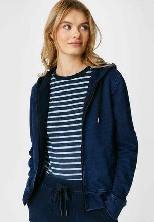 Zip-up hoodie - jeans-blau