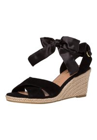 Tamaris - Wedge sandals - black uni - 2