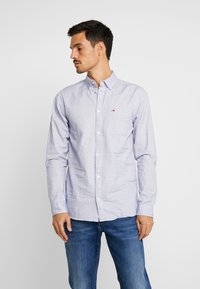 Tommy Jeans - DOBBY  - Shirt - classic white - 0