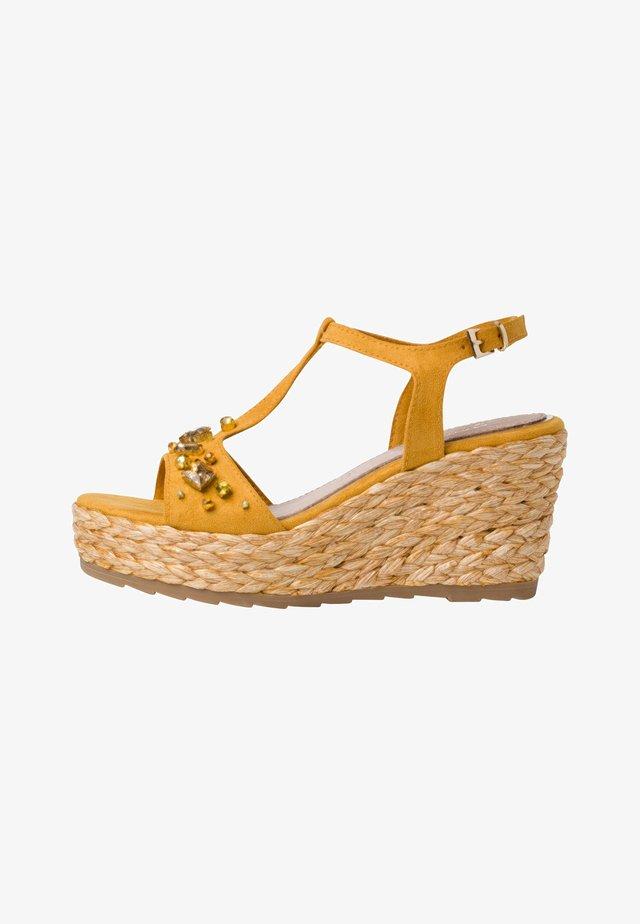 Sandalen met hoge hak - saffron
