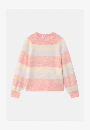 GIRL TONAL STRIPE - Strickpullover - misty rose