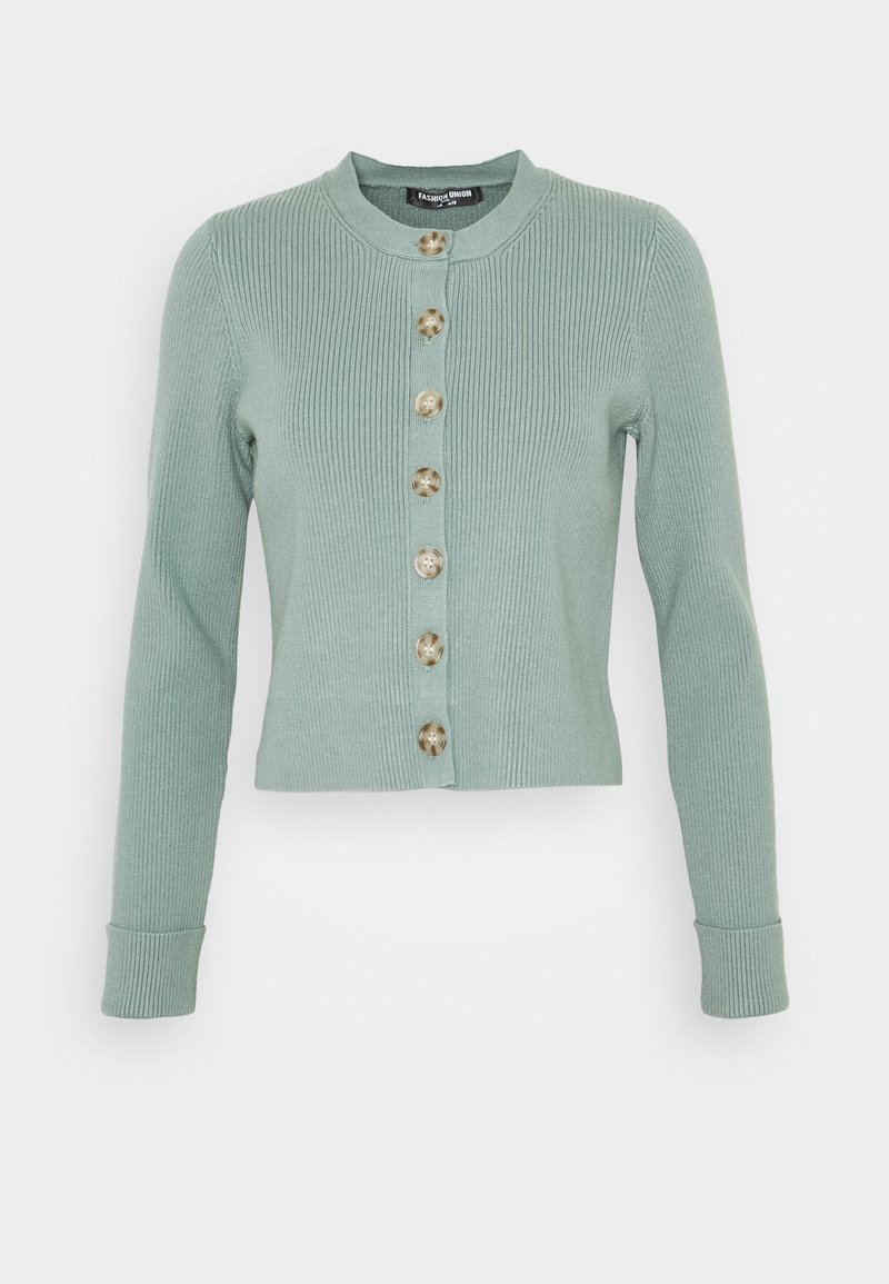 Fashion Union Petite - FLOWLER  - Kardigan - green