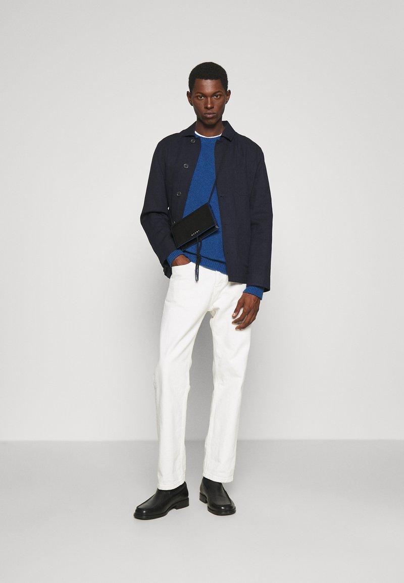 Marni - MUSEO SOFT MINI UNISEX - Across body bag - black/navy blue