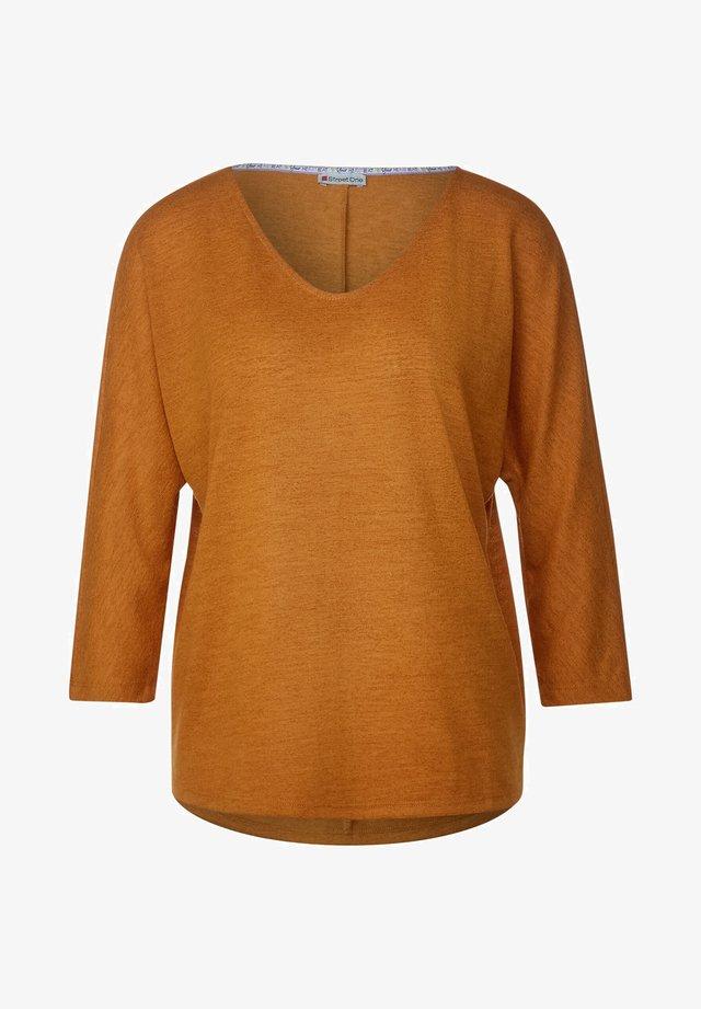 MIT STRUKTUR-OPTIK - T-shirt à manches longues - orange