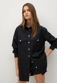 Mango - Button-down blouse - zwart - 0