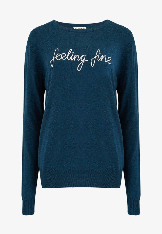 SUGARHILL BRIGHTON VELMA FEELING FINE - Sweatshirt - blue
