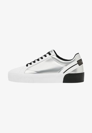 Sneakers laag - metallic grey