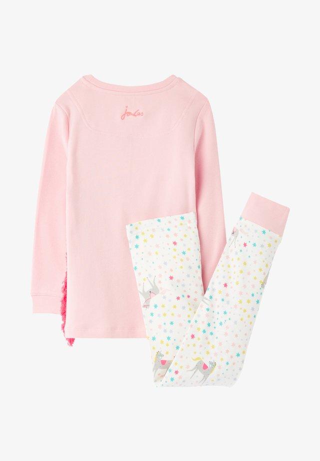 Pyjama set - weiß rosa nebel