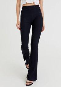 PULL&BEAR - Pantalon classique - black - 0