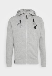 CAYCE - Zip-up hoodie - light grey