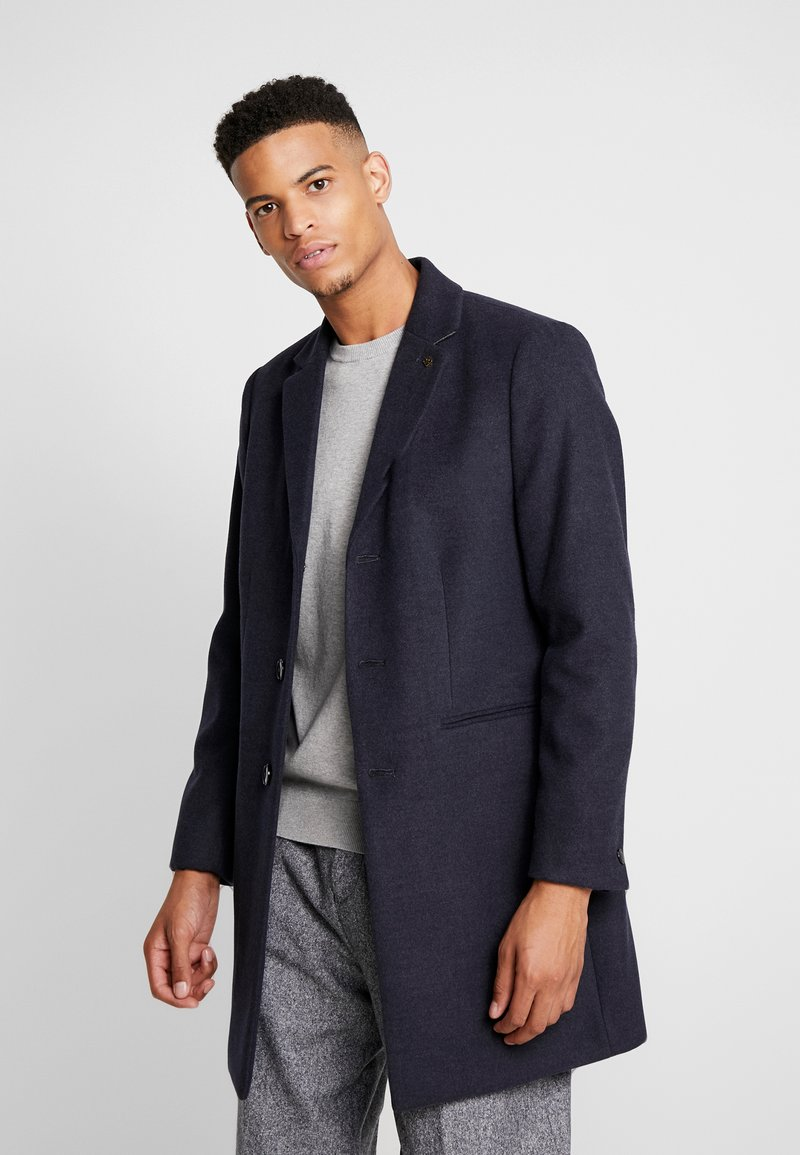 Burton Menswear London - FAUX CROMBI - Zimní kabát - navy