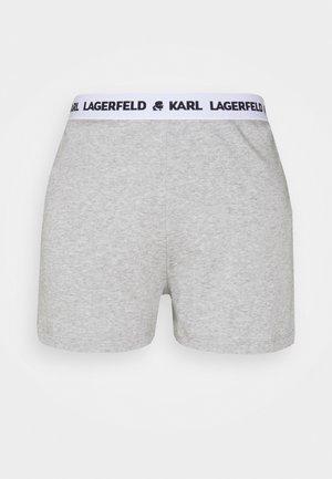 LOGO PYJAMA SHORTS - Pyjama bottoms - grey melange