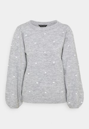 ALL OVER BOBBLE CREW NECK - Sweter - light grey