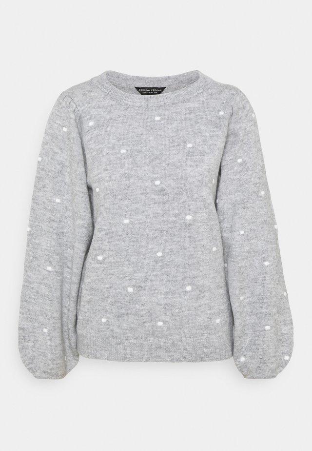 ALL OVER BOBBLE CREW NECK - Jersey de punto - light grey