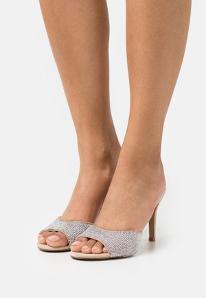 ERIN - Heeled mules - silver