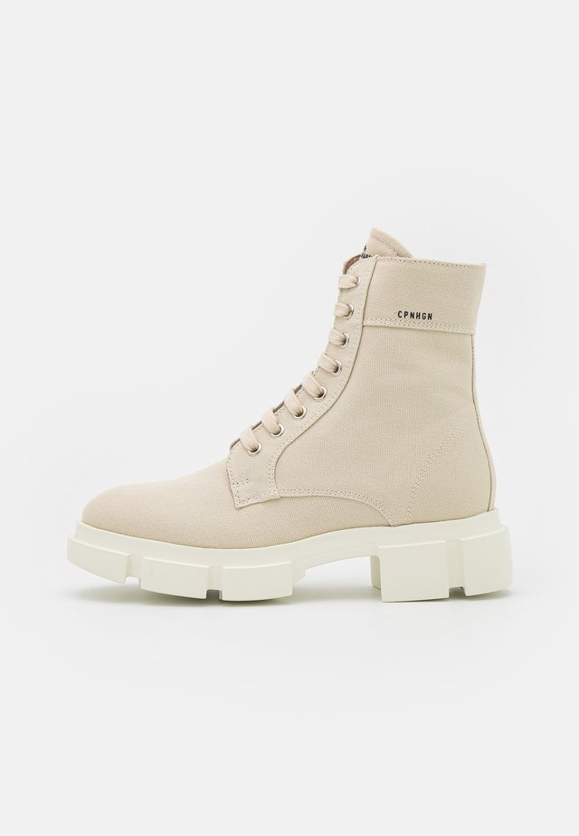 Bottines à lacets - offwhite