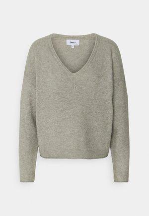 ONLMARLI LIFE V NECK - Pullover - kalamata melange