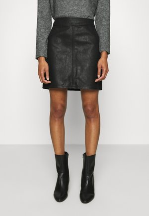 POCKET MINI SKIRT - Mini skirt - black