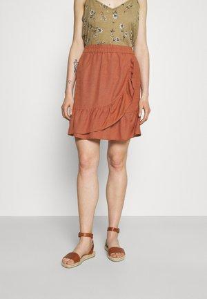 ONLCARLY VIVA NEW LIFE  WRAP SKIRT - Mini skirt - apple butter