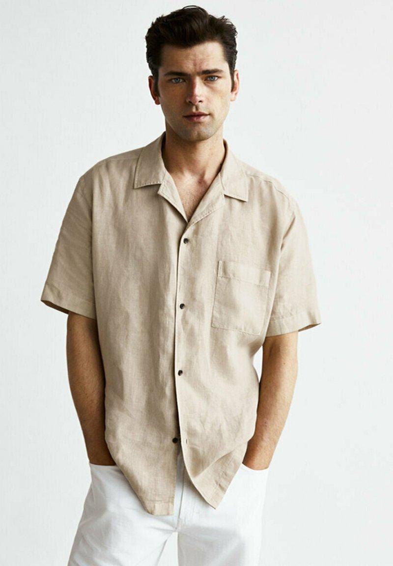 Massimo Dutti - Skjorta - beige