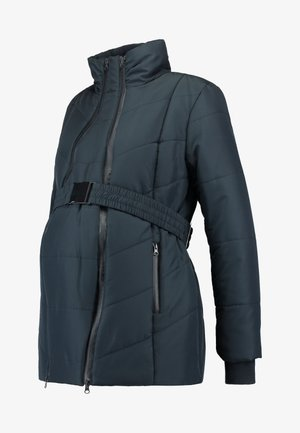 COAT DOUBLE ZIPPER PADDED - Veste d'hiver - navy